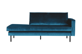 Daybed Rodeo right velvet blauw