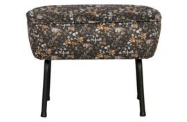 Hocker Vogue poppy aquarel flower zwart