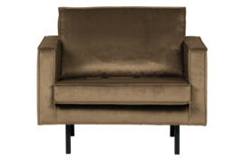 Fauteuil Rodeo velvet taupe