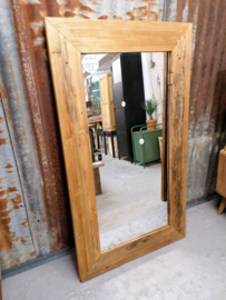Spiegel erosie teak 140x80 cm
