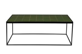 Salontafel van geglazuurde tegels groen