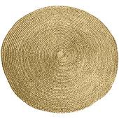 Carpet Jute rond 220x220 cm geel