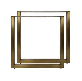 Eettafelpoten brass antique koper 72 cm
