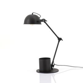 Tafellamp Hawk  zwart