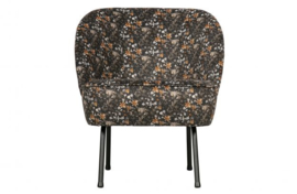 Fauteuil Vogue fluweel  aquarel flower zwart