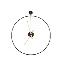 Wandklok Sundial small zwart