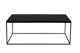 Salontafel van geglazuurde tegels zwart