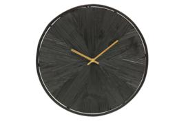 Wandklok Valentino hout zwart