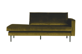 Daybed Rodeo right velvet olijfgroen