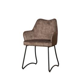Garda armchair brown velvet