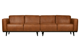 Bank 4-zits Statement 280 cm eco leer cognac
