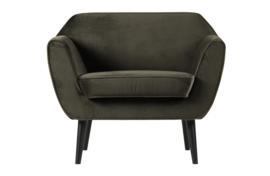 Rocco fauteuil fluweel warm groen