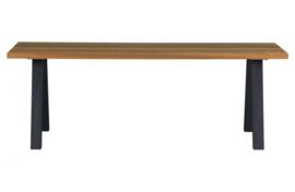 Tuintafel Tablo Outdoor naturel met A-poot metaal 210 cm
