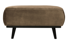 Hocker Statement fluweel taupe 80x55cm