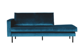 Daybed Rodeo left velvet blauw