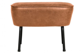 Hocker Vogue leer cognac