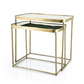 Salontafel set van 2 Botea, brons-goud