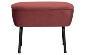 Hocker Vogue fluweel chestnut