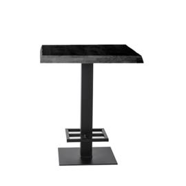 Countertafel 80x80 cm zwart