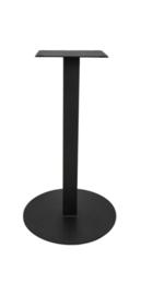 Onderstel Pillar - rond - gepoedercoat zwart - metaal