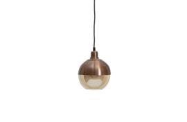 Hanglamp Split glas bruin brush 18 cm