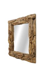Spiegel root 100x100 cm