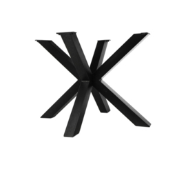 Onderstel Oakland - 3D-Model - 100x80 cm - gepoedercoat zwart ijzer