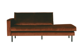 Daybed Rodeo left velvet roest