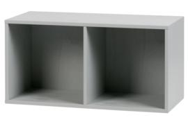 Stapelkast Lower case 2 vakken betongrijs