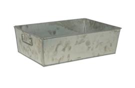 Opbergbak zink 40x26 cm