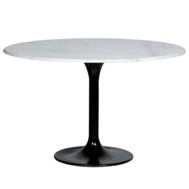 Eettafel Marmer wit rond 120x76 cm