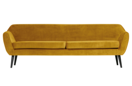 Rocco xl sofa 230 cm fluweel oker