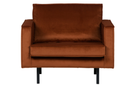 Fauteuil Rodeo velvet roest
