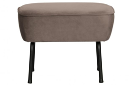 Hocker Vogue fluweel nougat