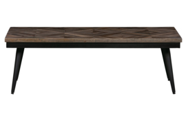 Salontafel Rhombic 120x60 cm hout/metaal