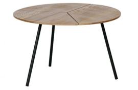 Bijzettafel Rodi hout/metaal 38xØ60 cm