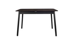 Eettafel Glimps uitschuifbaar 120-162 cm, essenfineer zwart