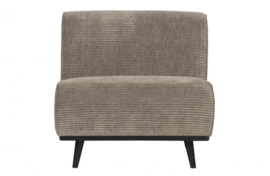 Fauteuil Statement brede platte rib Clay