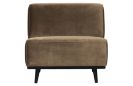 Fauteuil Statement fluweel taupe