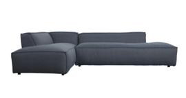 Sofa fat Freddy left van Zuiver stone blue