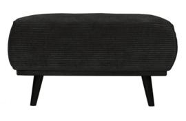 Hocker Statement brede platte rib Graphite 80x55 cm