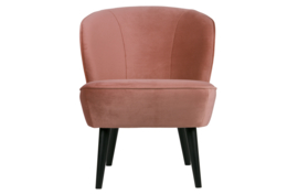 Sara fauteuil fluweel oud roze
