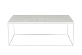 Salontafel van geglazuurde tegels wit