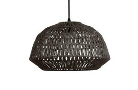 Hanglamp Kace jute zwart 45 cm
