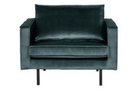fauteuil Rodeo velvet teal