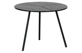 Bijzettafel Rodi hout/metaal zwart 38xØ48 cm