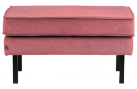 Hocker Rodeo op poten velvet roze