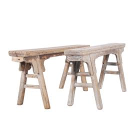 Oude chinese houten banken