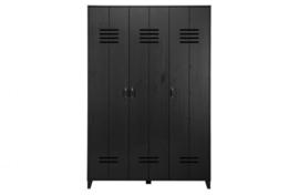 Opberggigant lockerkast  3 deurs zwart