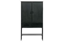 Kabinet Wish 2-deurs metaal zwart
